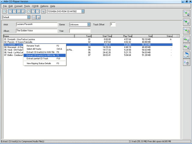 Aktiv CD Ripper Screenshot