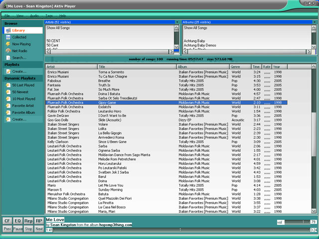 Click to view Aktiv Player 2.5.0 screenshot