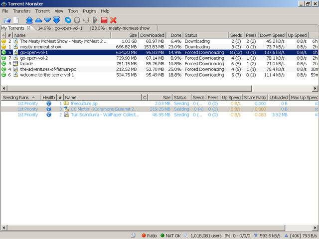 Screenshot of Torrent Monster
