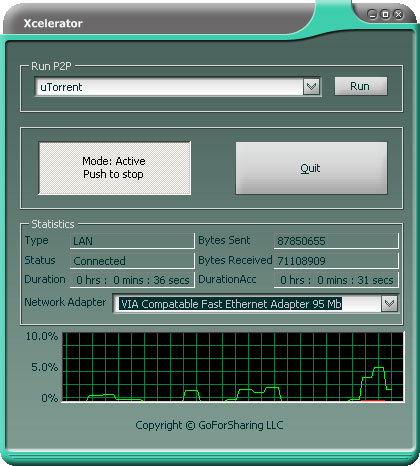 Xcelerator screenshot